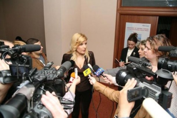 Elena Udrea la Mangalia, recent. Fotografie de pe www.elenaudrea.ro
