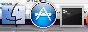 Mac App Store în Dock