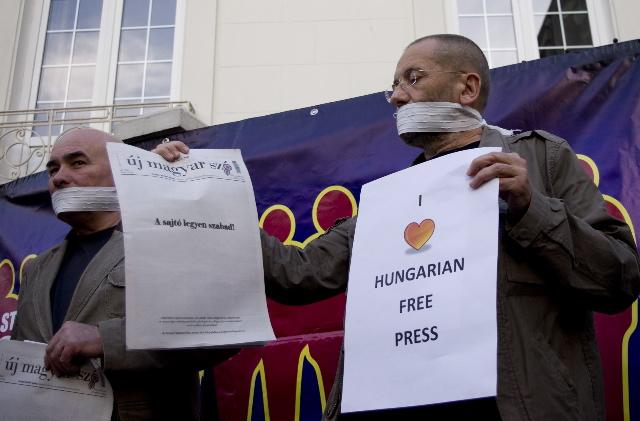 Protest la Ambasada Ungariei