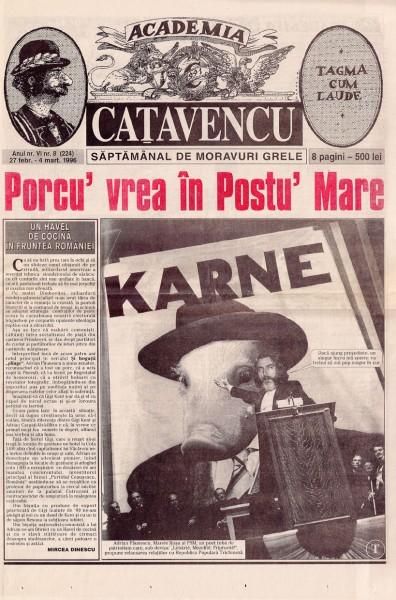 Academia Cațavencu, 27 februarie 1996