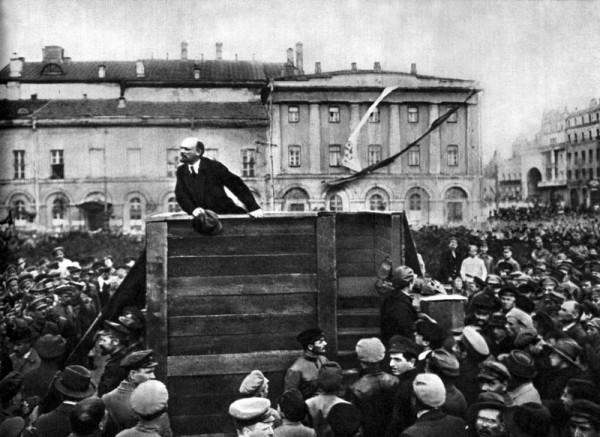Lenin în Piaţa Sverdlov din Moscova, 5 mai 1920