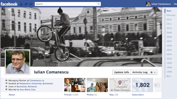Contul meu de pe Facebook