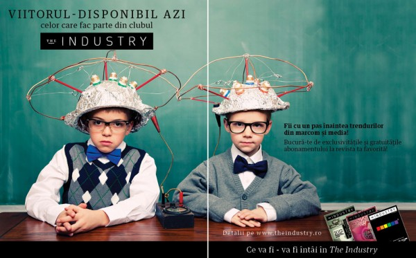 "Print ad abonamente ""The Industry"""