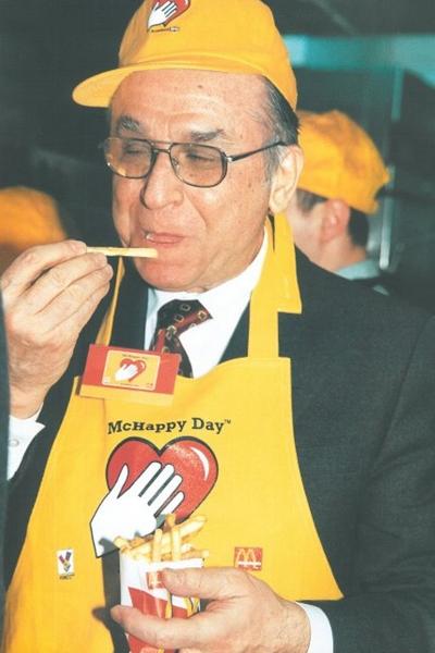 Ion Iliescu la McDonald's