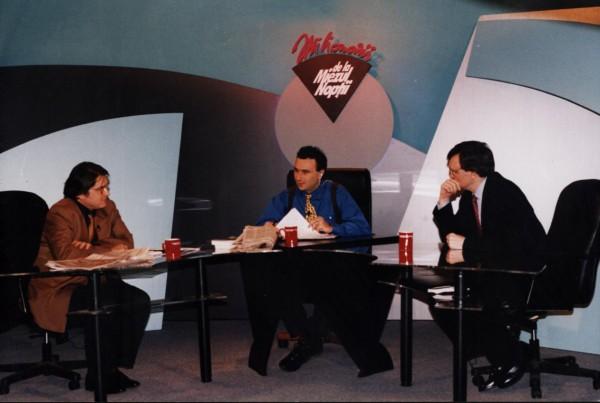 """Marius Tucă, la sfârşitul anilor '90, când show-ul lui se numea """"Milionarii de la miezul nopţii"""""""