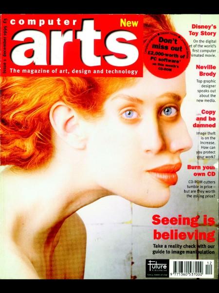 Computer Arts, prima copertă, din 1995. De dragul ilustrației, fiindcă pe vremea aceea nu exista tabletă