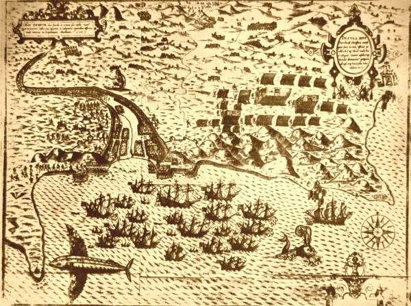 Hartă de pe la 1591. De aici