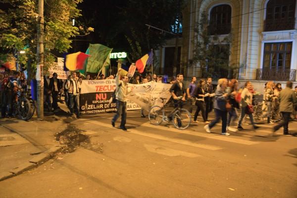 Tecuciul protestează împotriva exploatării Chevron