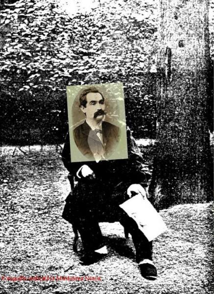 """Octav Minar a """"descoperit"""" o fotografie de la Mănăstirea Neamț a lui Eminescu. E vorba de un fals realizat prin adăugarea capului din cea de-a patra poză autentică a poetului"""
