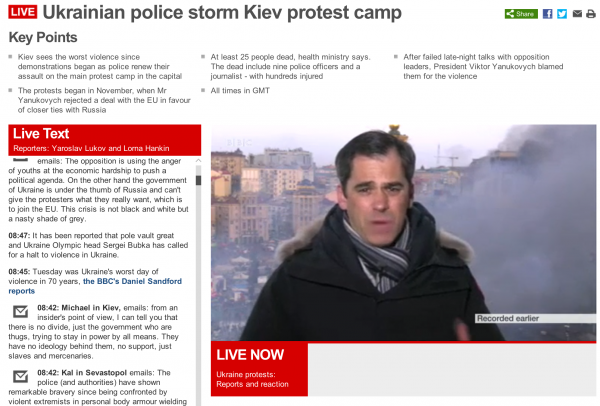 BBC News Live Coverage de la protestele din Kiev