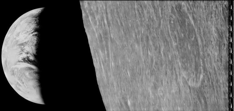 Prima fotografie a Pământului, 23 august 1966, Lunar Orbiter 1