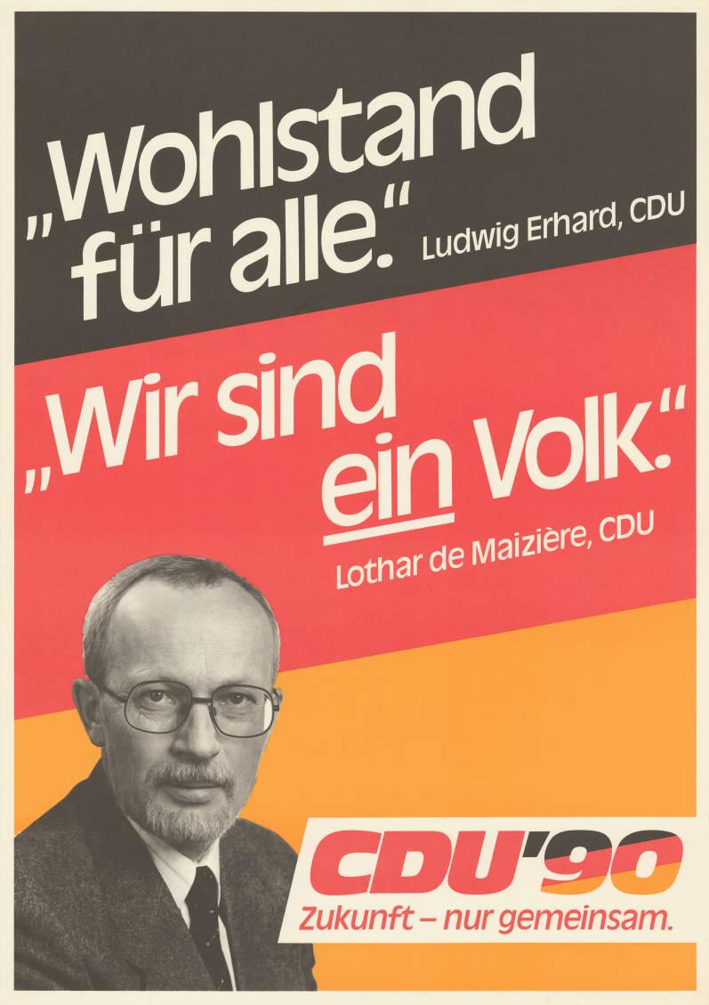 """Afiș derivat din """"Wir sind Das Folk"""" (Lothar de Maizière, 1990)"""