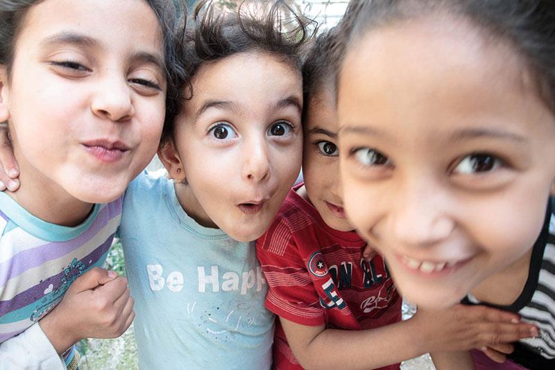 Copii palestinieni în tabăra de refugiați de la Dheisheh
